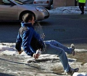 Cariati Law Toronto, Ontario Injury Lawyers Personal Injury Slip and Fall Man slipping on ice