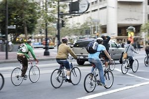 Cariati Law Toronto, Ontario Injury Lawyers Bike Accident Lawyers Group of Bikers in Traffic
