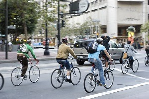 City bikers in San Francisco