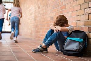 Child alone in school