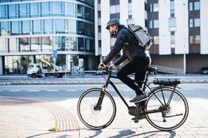 Bike crossing the street